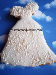 biscuit 3D pour marriage robe de marriée (6)