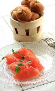 financiers pamplemousse