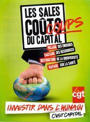 Affiche CGT - Les sales coups du capital terre