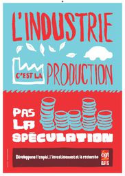 Affiche l'industrie c'est la production