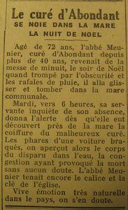curé abondant meunier 25 dec 1951
