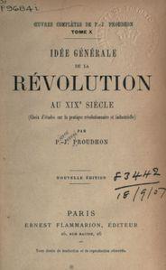 proudhon idee generale de la revolution