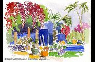 Alain MARC Jardin Majorelle, Carnet Maroc