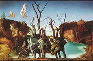 illusion elephant  signes dali swans reflecting elephants