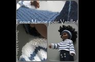 TENUE MARINE POUPEE COROLLE