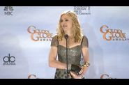Madonna 2012 Golden Globe Awards 49 Press Room Interview
