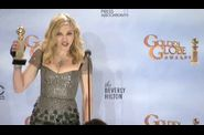 Madonna 2012 Golden Globe Awards 51 Press Room Interview