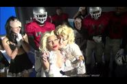 Madonna kissing Nicki Minaj on GMAYL video set 07