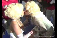 Madonna kissing Nicki Minaj on GMAYL video set 10