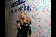 Madonna and Jimmy Fallon Sign The Facebook Wall 20120324 05
