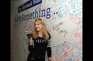 Madonna and Jimmy Fallon Sign The Facebook Wall 20120324 06