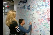 Madonna and Jimmy Fallon Sign The Facebook Wall 20120324 10