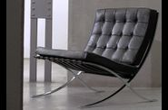 Ludwig Mies van der Rohe, Barcelona chair, chrome on steel
