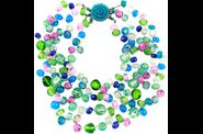 COLLIERS Pucci 1960colored glass beads