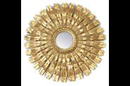 miroir-carved burst mirror