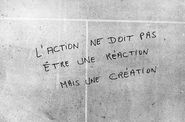 action pas raction mais creation