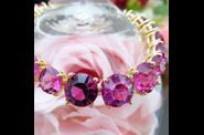 Bracelet MARQUISE or jaune rubis orchide 01