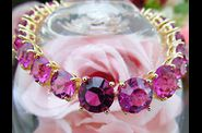 Bracelet MARQUISE or jaune rubis orchide 02