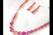 Parure MARQUISE or jaune rubis orchide 05