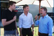Red Bull - Jack Humphrey, David Coulthard et Eddie Jordan
