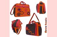 DivineCousette-Sac  langer-orange rouge et marron