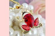 Pendentif FROOGY or jaune rubis 01