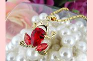 Pendentif FROOGY or jaune rubis 03