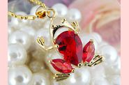 Pendentif FROOGY or jaune rubis 04