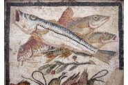 Antiquité-Pompei-Fresque murale-Fishes-2