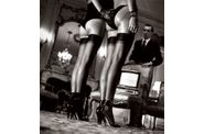 Helmut Newton Two Pairs Of LegsIn Black Hose