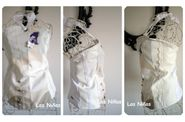 bustier blanc collage par 3