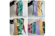 bustier multicolor collage