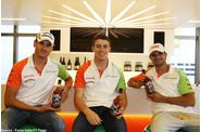Force India - Adrian Sutil, Paul di Resta, Vitantonio Liuzz
