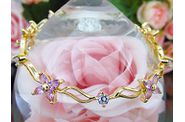 bracelet EDEN or jaune saphirs roses 02
