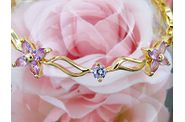 bracelet EDEN or jaune saphirs roses 05