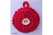 dishcloth zinnia 1