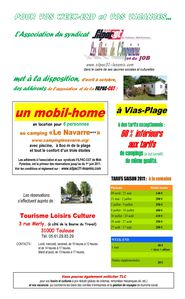 affiche location camping