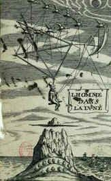 Gravure tirée de The Man in the Moone, de Francis Godwin (1648).