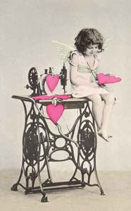 sewing machine cupid vintage