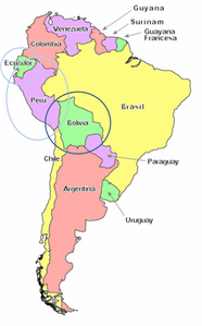 bolivie-carte-du-monde - Photo