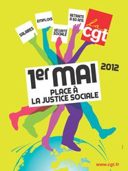 Affiche CGT 1er mai 2012
