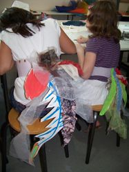 Atelier costume d'oiseau (atelier queue)