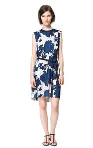 robe imprimé fleurs zara 49.95