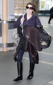 Ashley Greene Catching Flight Vancouver Airport