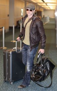 Kellan Lutz Catching Flight Vancouver Airport