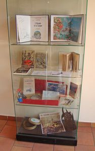 vitrine art bleu blog