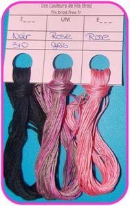 LOT007 - Noir et Rose 3-50-