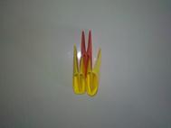 Montage origami 3D cygne 4