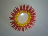 Montage origami 3D cygne 6