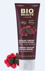 exfoliant confort aux fruits rouges bio beauté by nuxe